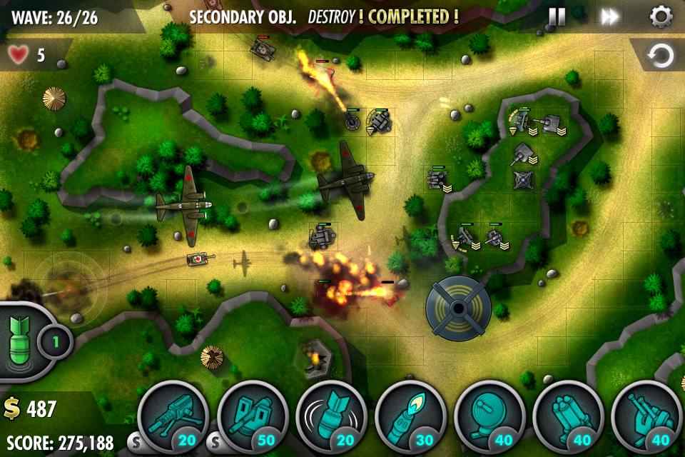 iBomber Defense Pacific iPhone, iPad Screenshot